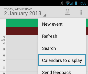 Add Calendar - Android